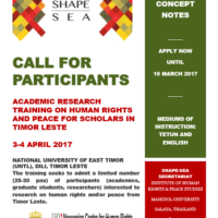 CAll for ParticIpants for academic research training TL