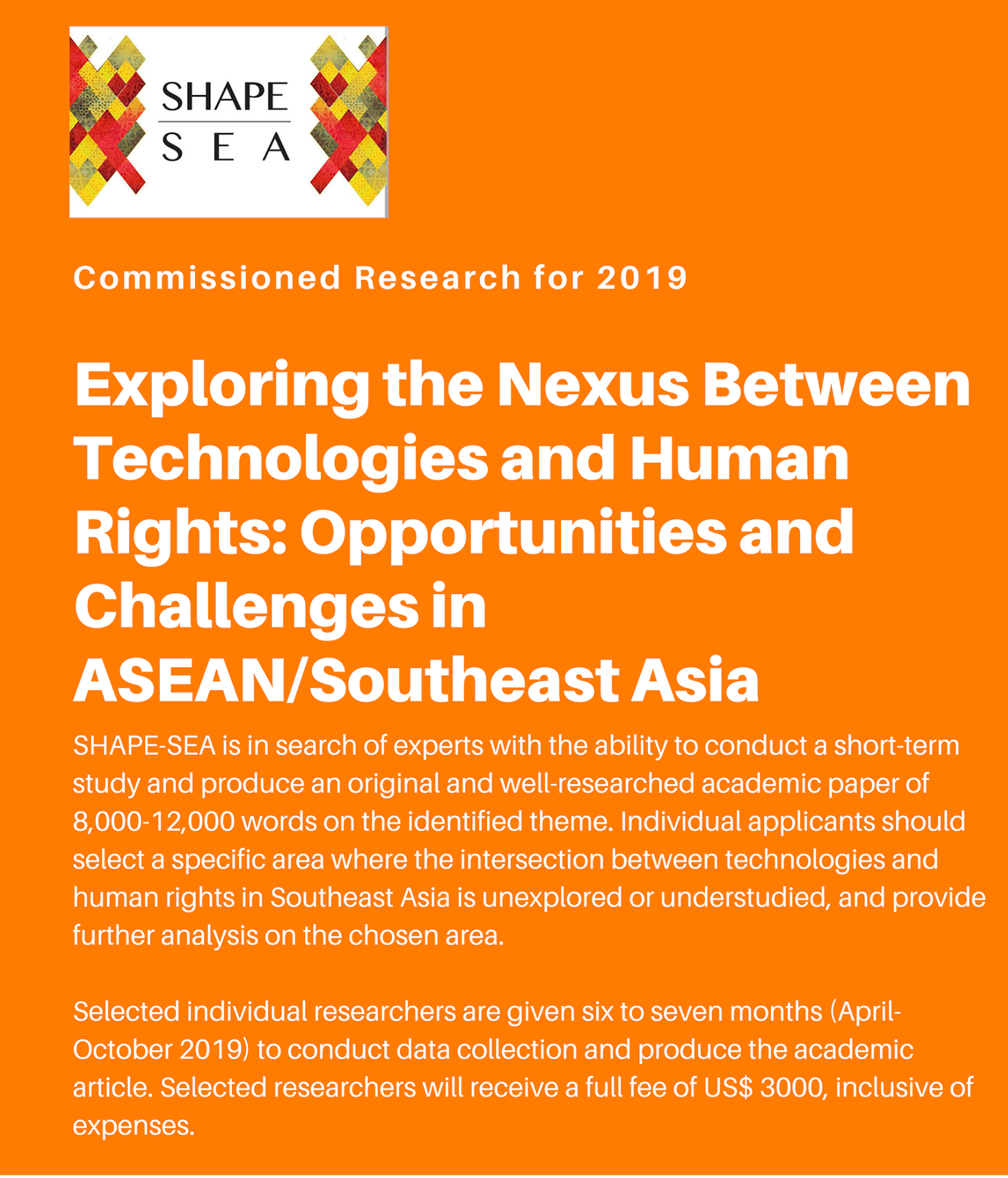 SHAPE-SEA Strengthening Human Rights & Peace Research